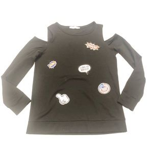 😘 Casual Couture black open arms sweatshirt S